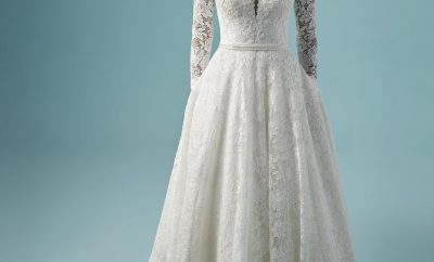The wedding dress with sleeves