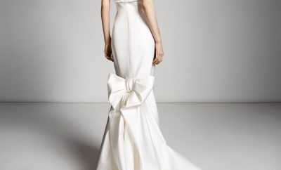 wedding dresses with statement bows