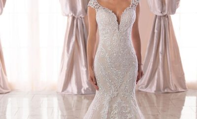 Best exaggerated drop waist bridal gown