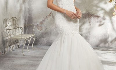 New exaggerated drop waist bridal gown