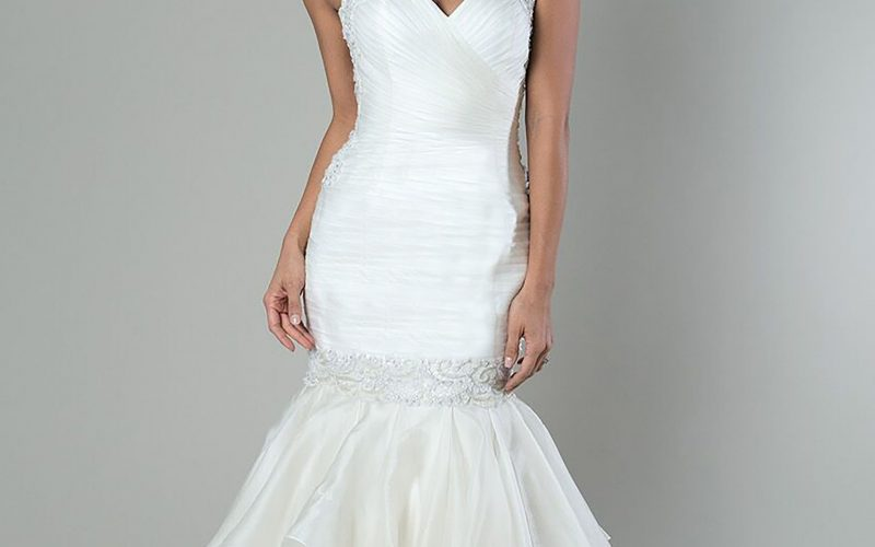 Exaggerated Drop Waist Bridal Gown