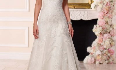 Amazing a-line wedding gown