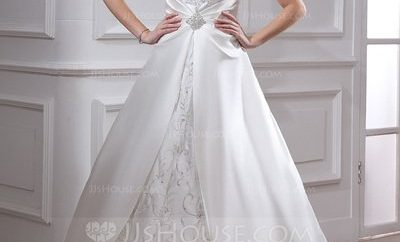 Amazing square wedding gown