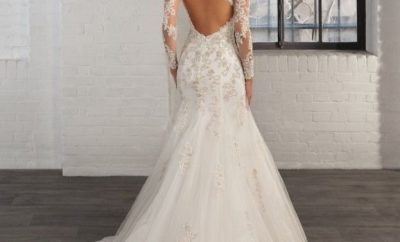 New fishtail wedding gown