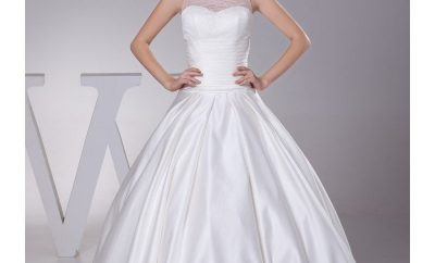 The high neck wedding gown
