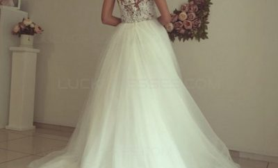 The illusion wedding gown