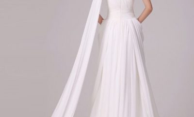 The one-shoulder wedding gown