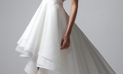 The short wedding gown
