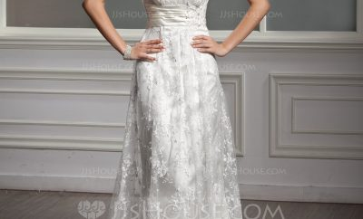 The square wedding gown