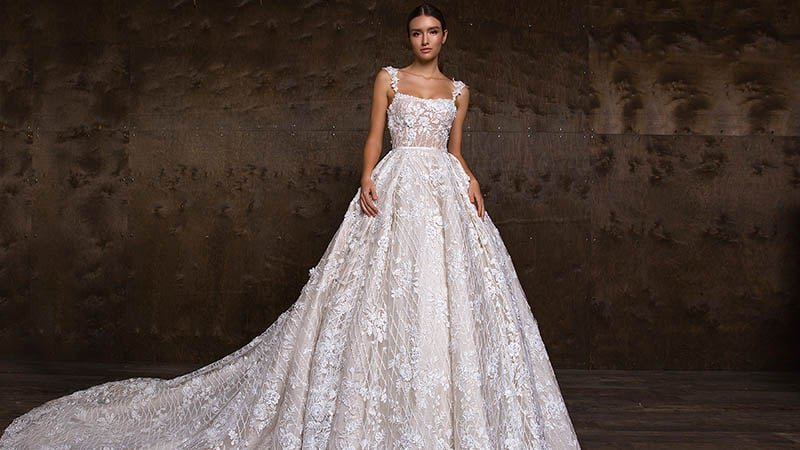 Square Wedding Gown
