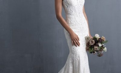 Amazing fit-and-flare wedding gown