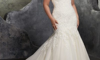 Amazing the trumpet wedding gown