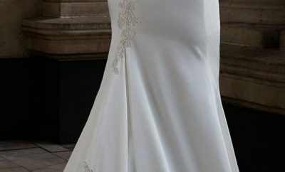Best fit-and-flare wedding gown