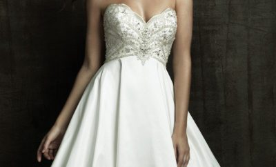 New empire wedding gown