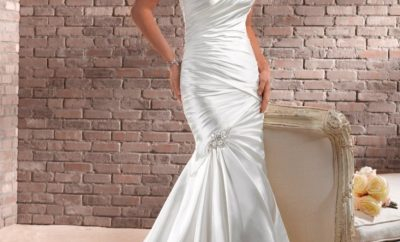 New fit-and-flare wedding gown