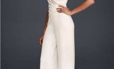 New jumpsuit wedding gown