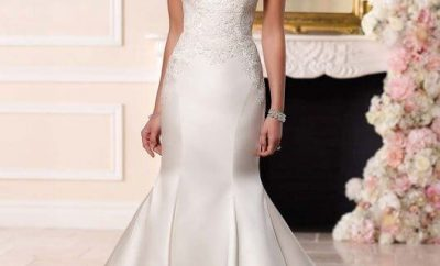 The fit-and-flare wedding gown