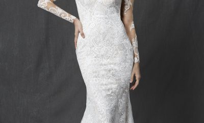 The the sheath wedding gown