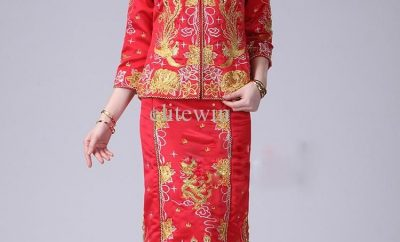 The traditional chinese wedding dress