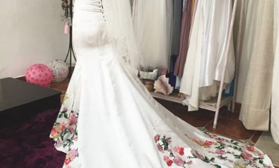 The traditional mexican wedding dress